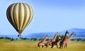 Hot air balloon safaris in Tanzania